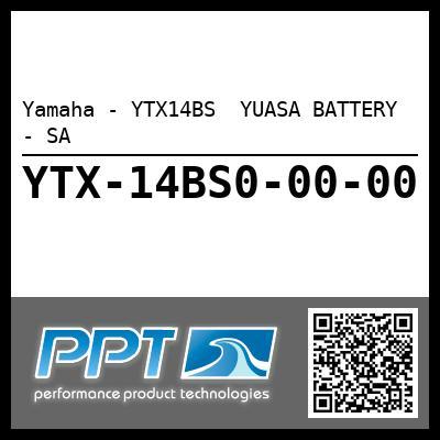 Yamaha - YTX14BS  YUASA BATTERY - SA