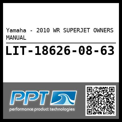 Yamaha - 2010 WR SUPERJET OWNERS MANUAL