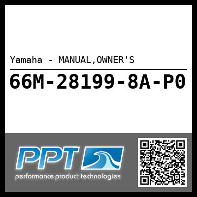 Yamaha - MANUAL,OWNER'S