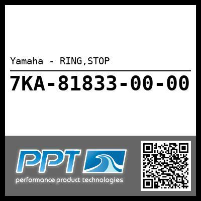 Yamaha - RING,STOP