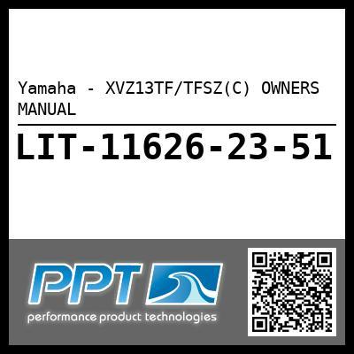 Yamaha - XVZ13TF/TFSZ(C) OWNERS MANUAL