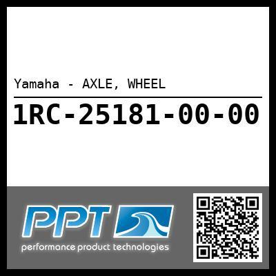 Yamaha - AXLE, WHEEL