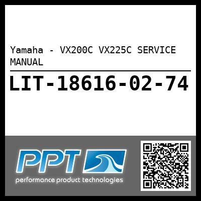 Yamaha - VX200C VX225C SERVICE MANUAL