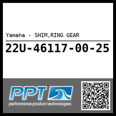 Yamaha - SHIM,RING GEAR