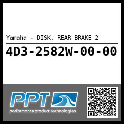 Yamaha - DISK, REAR BRAKE 2
