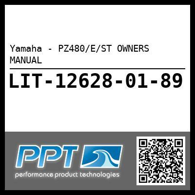 Yamaha - PZ480/E/ST OWNERS MANUAL