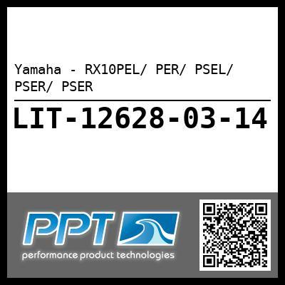 Yamaha - RX10PEL/ PER/ PSEL/ PSER/ PSER