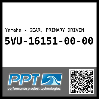 Yamaha - GEAR, PRIMARY DRIVEN