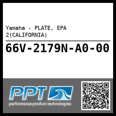 Yamaha - PLATE, EPA 2(CALIFORNIA)