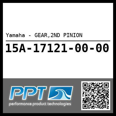 Yamaha - GEAR,2ND PINION