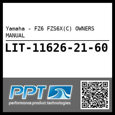 Yamaha - FZ6 FZS6X(C) OWNERS MANUAL