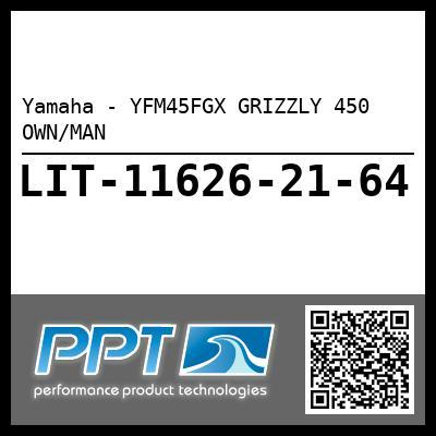 Yamaha - YFM45FGX GRIZZLY 450 OWN/MAN