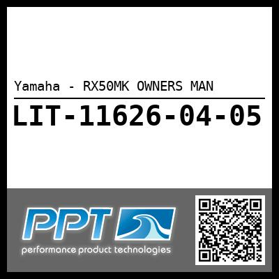 Yamaha - RX50MK OWNERS MAN