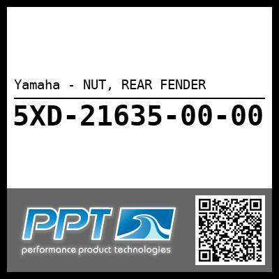 Yamaha - NUT, REAR FENDER