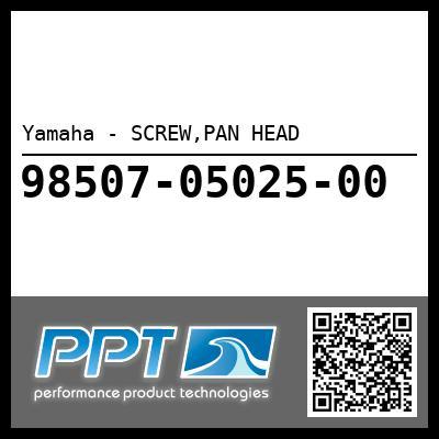 Yamaha - SCREW,PAN HEAD