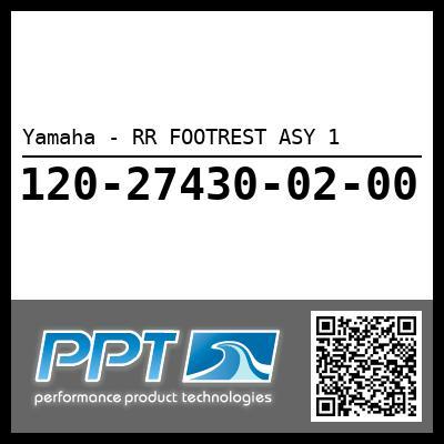 Yamaha - RR FOOTREST ASY 1