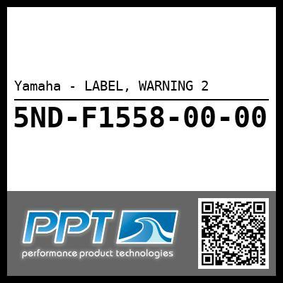 Yamaha - LABEL, WARNING 2