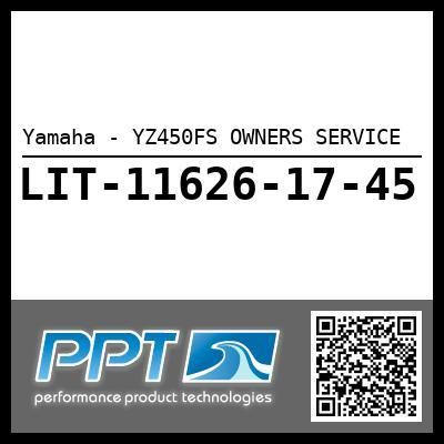 Yamaha - YZ450FS OWNERS SERVICE