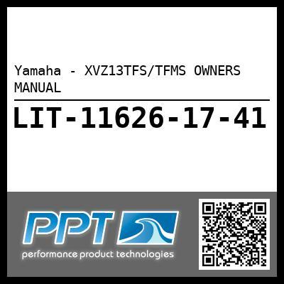 Yamaha - XVZ13TFS/TFMS OWNERS MANUAL