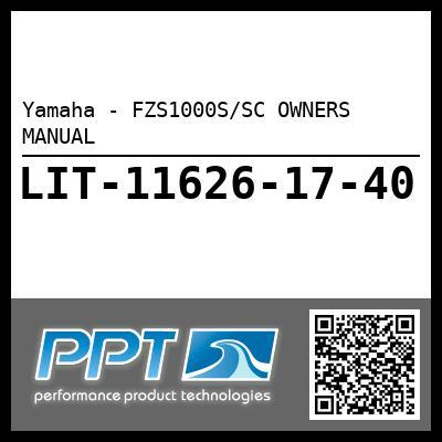 Yamaha - FZS1000S/SC OWNERS MANUAL