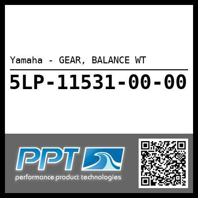 Yamaha - GEAR, BALANCE WT