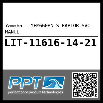Yamaha - YFM660RN-S RAPTOR SVC MANUL