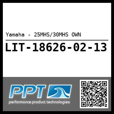 Yamaha - 25MHS/30MHS OWN