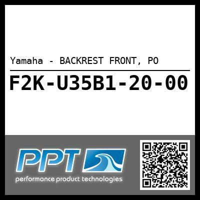 Yamaha - BACKREST FRONT, PO