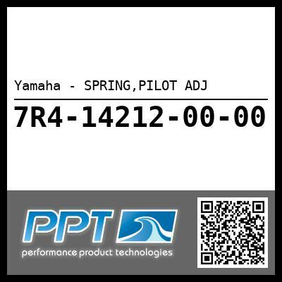 Yamaha - SPRING,PILOT ADJ