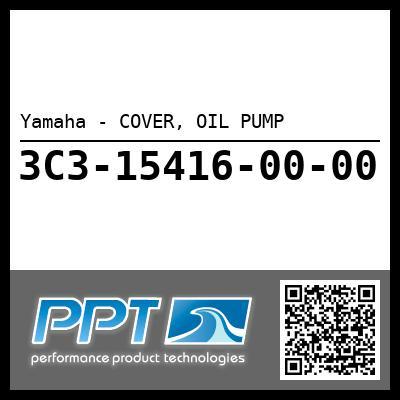 Yamaha - COVER, OIL PUMP