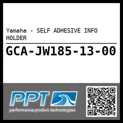 Yamaha - SELF ADHESIVE INFO HOLDER