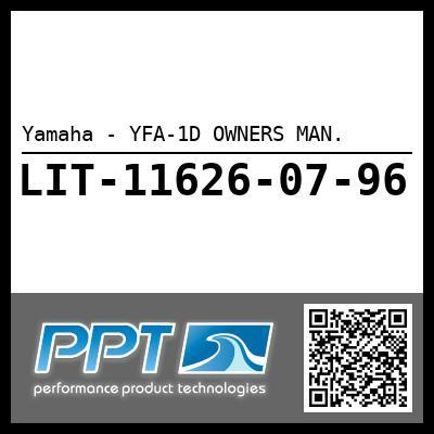 Yamaha - YFA-1D OWNERS MAN.
