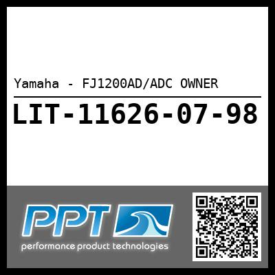 Yamaha - FJ1200AD/ADC OWNER