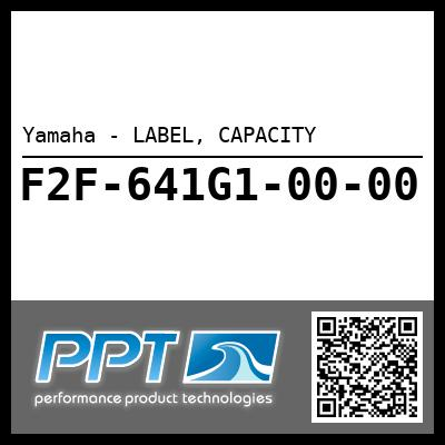 Yamaha - LABEL, CAPACITY