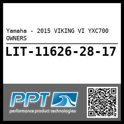 Yamaha - 2015 VIKING VI YXC700 OWNERS