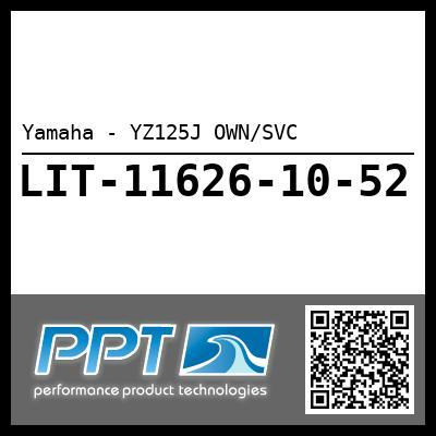 Yamaha - YZ125J OWN/SVC