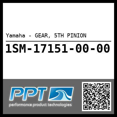 Yamaha - GEAR, 5TH PINION