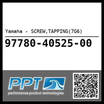 Yamaha - SCREW,TAPPING(7G6)