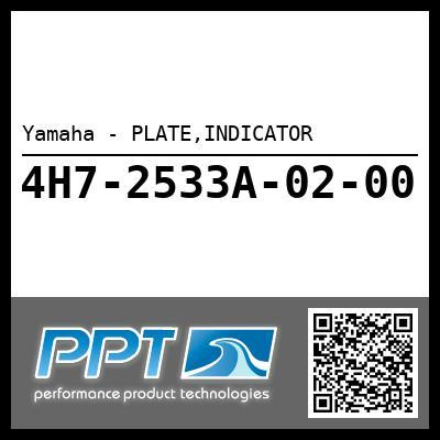 Yamaha - PLATE,INDICATOR