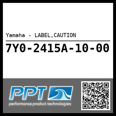 Yamaha - LABEL,CAUTION