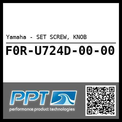 Yamaha - SET SCREW, KNOB