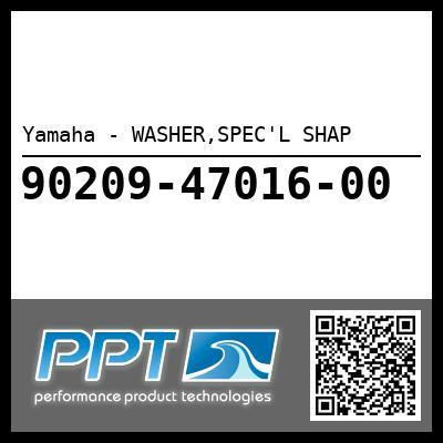 Yamaha - WASHER,SPEC'L SHAP