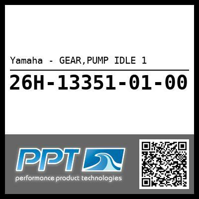 Yamaha - GEAR,PUMP IDLE 1
