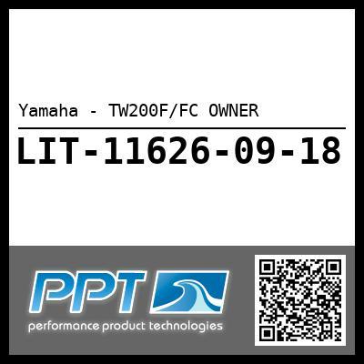 Yamaha - TW200F/FC OWNER