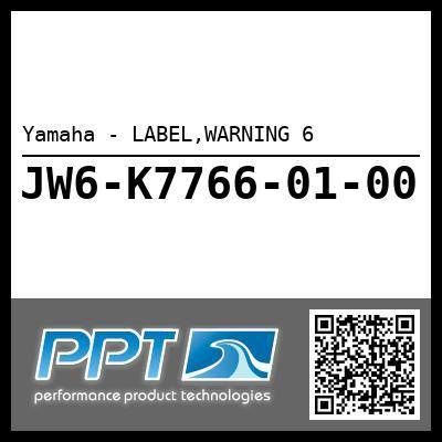 Yamaha - LABEL,WARNING 6