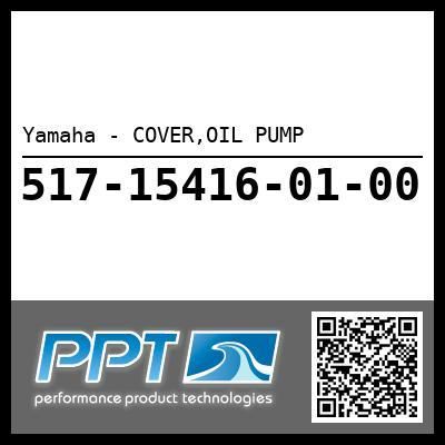 Yamaha - COVER,OIL PUMP