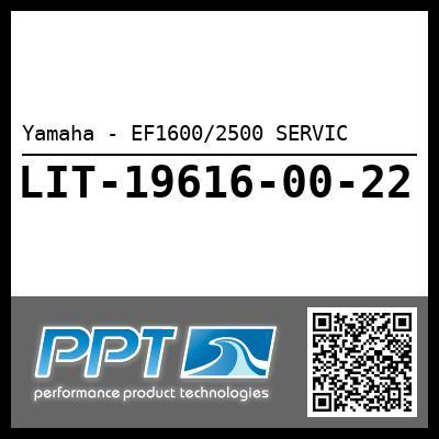 Yamaha - EF1600/2500 SERVIC
