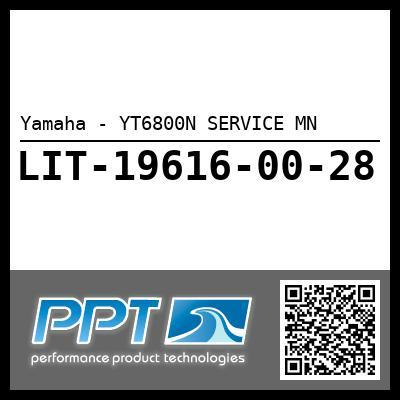 Yamaha - YT6800N SERVICE MN