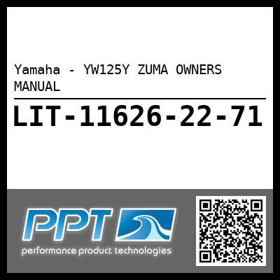 Yamaha - YW125Y ZUMA OWNERS MANUAL