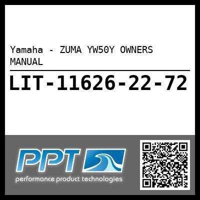 Yamaha - ZUMA YW50Y OWNERS MANUAL